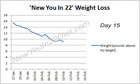 New You In 22 diet results day 15
